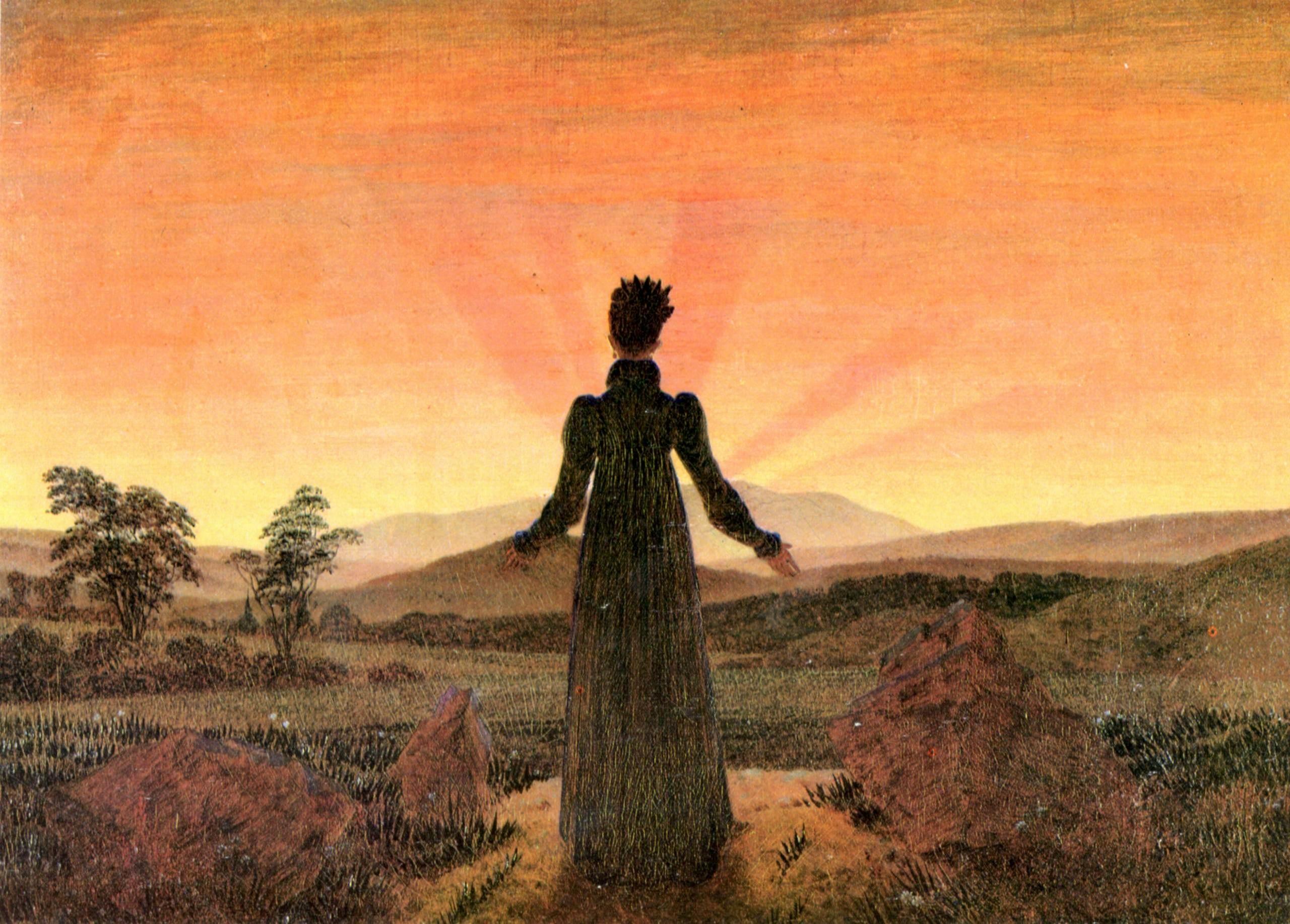 Oeuvre Romantique la peinture romantique de caspar david friedrich dans trois