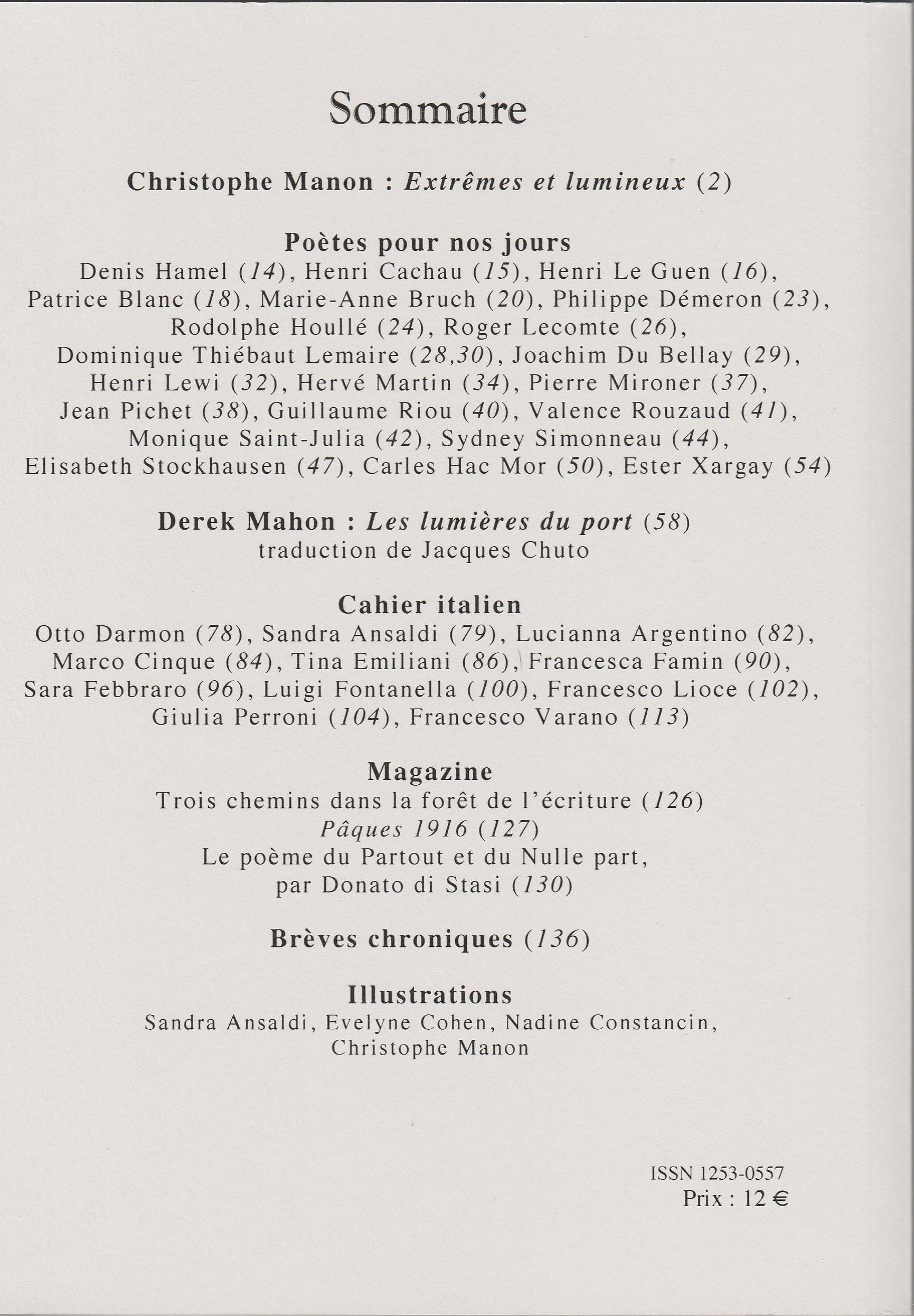 Les Citadelles. N° 21. Verso