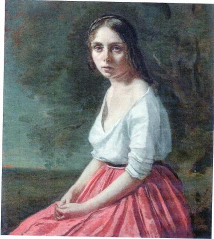 Jeune femme à la jupe rose