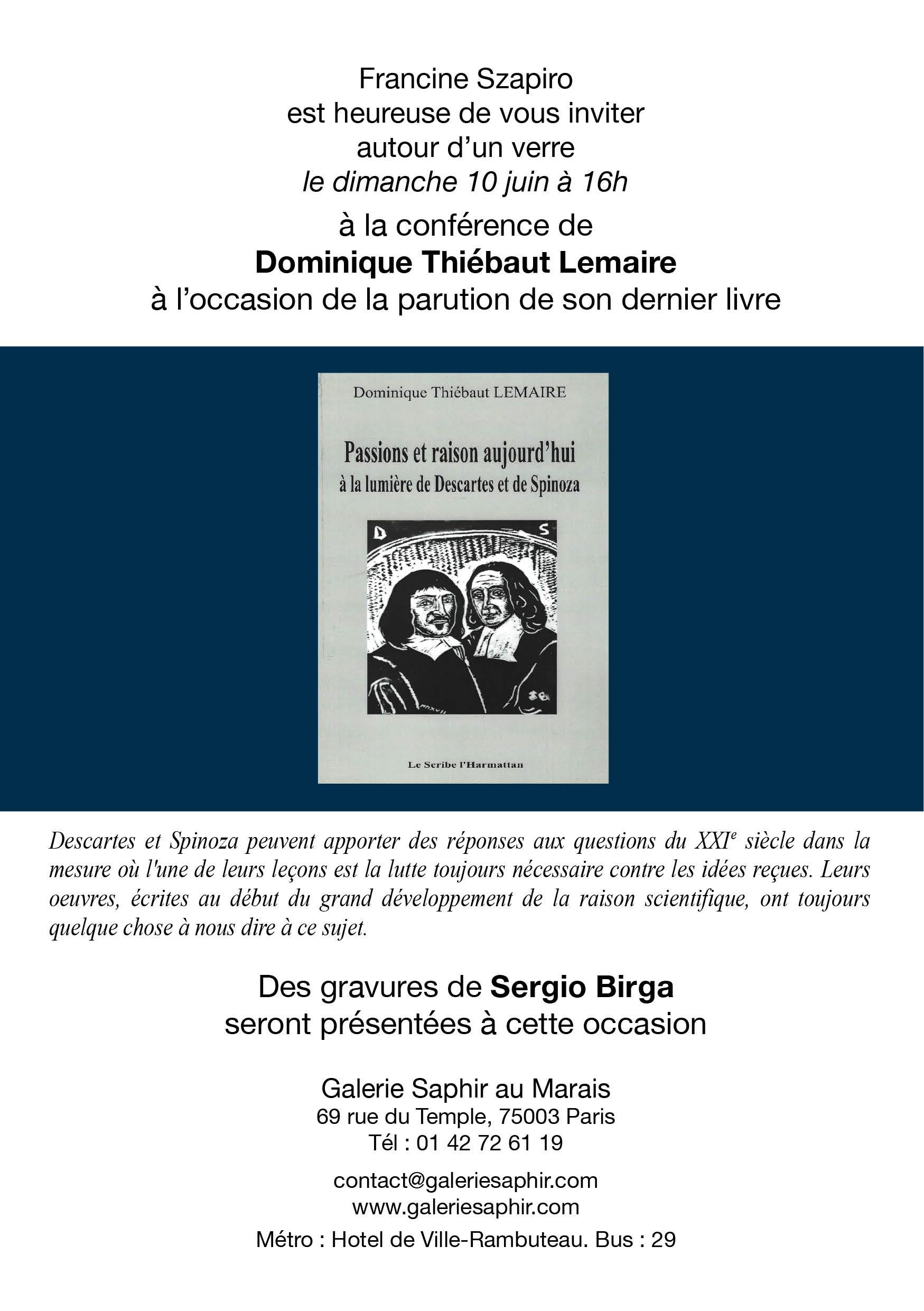 Dans ce livre, l auteur réfléchit à l actualité des Passions de l âme de  Descartes (1649) et de l Éthique de Spinoza (1677), deux philosophes qui  ont vécu à ... 5b3e717107f8