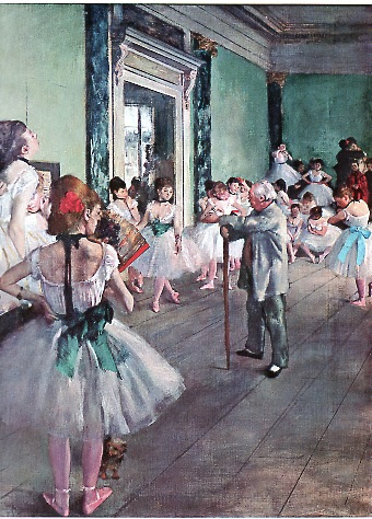 Degas à l'Opéra, la classe de danse